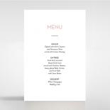 Pink Chic Charm Paper wedding venue menu card stationery