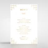 Quilted Letterpress Elegance with foil reception menu card