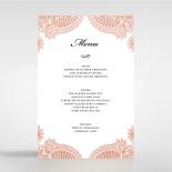 Regal Charm Letterpress wedding reception menu card stationery