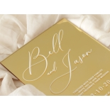 Chic Mirror Gold - Wedding Invitations - ACR-GLMR-WH-1 - 179021