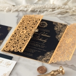 Imperial Glamour - Navy - Wedding Invitations - PWI116022-NV - 178783
