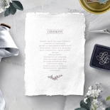 Ace of Spades with Deckled Edges wedding order of service card design