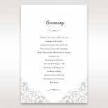 An Elegant Beginning order of service ceremony invite card design