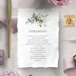 Beautiful Devotion order of service card design