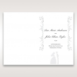 Bridal Romance order of service stationery invite card design
