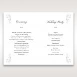 Bridal Romance order of service ceremony stationery card