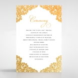Charming Lace Frame with Foil order of service invite card