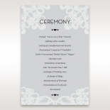 Charming Rustic Laser Cut Wrap wedding order of service ceremony invite card design