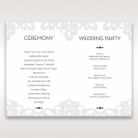 Charming Rustic Laser Cut Wrap wedding stationery order of service card