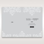 Charming Rustic Laser Cut Wrap wedding stationery order of service card design