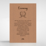 Chic Country Passion order of service invite
