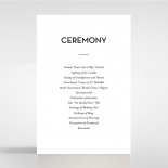 Clear Chic Charm Paper wedding order of service card