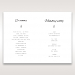Country Lace Pocket order of service invitation card