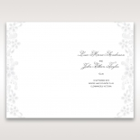 Enchanting Ivory Laser Cut Floral Wrap order of service card design