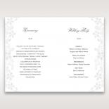 Enchanting Ivory Laser Cut Floral Wrap order of service invitation
