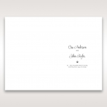 Floral Cluster wedding order of service invitation