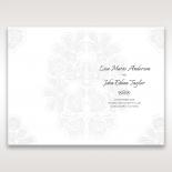 Floral Laser Cut Elegance order of service stationery card