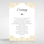 Golden Baroque Pocket wedding stationery order of service ceremony invite card design