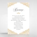 Golden Floral Lux wedding stationery order of service invite card design