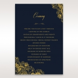 Imperial Glamour with Foil wedding stationery order of service ceremony card
