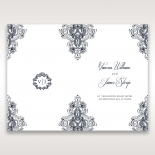 Imperial Glamour without Foil wedding stationery order of service ceremony invite card