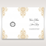 Imperial Glamour without Foil order of service card design