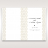 Intricate Vintage Lace wedding order of service invitation card