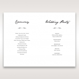 Letters of love wedding stationery order of service invitation card design