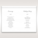 Marital Harmony order of service wedding card