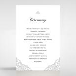 Modern Vintage wedding stationery order of service invitation card design