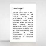 Paper Modern Romance wedding order of service invite