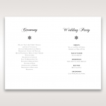 Petal Perfection wedding stationery order of service ceremony invite card