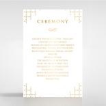 Quilted Letterpress Elegance with foil order of service stationery