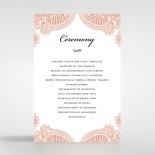Regal Charm Letterpress order of service ceremony stationery card design
