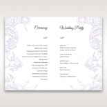 Romantic Rose Pocket order of service stationery invite card