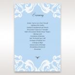 Romantic White Laser Cut Half Pocket wedding stationery order of service card