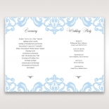 Romantic White Laser Cut Half Pocket wedding stationery order of service card design