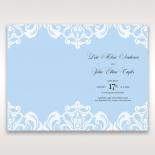 Romantic White Laser Cut Half Pocket wedding stationery order of service invitation