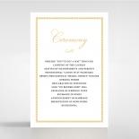 Royal Lace order of service wedding invite card design