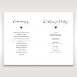 Rustic Woodlands order of service wedding invite card