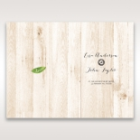Rustic Woodlands order of service wedding invite card design