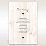 Rustic Woodlands order of service wedding card design