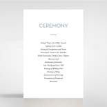 Silver Chic Charm Paper wedding order of service invitation card design