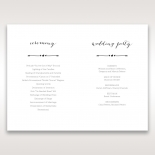 Simply Rustic order of service invitation