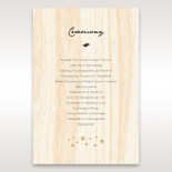 Splendid Laser Cut Scenery wedding stationery order of service ceremony card