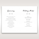 Splendid Laser Cut Scenery wedding stationery order of service ceremony card design