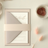 Romantic Blush and Pale Grey - Wedding Invitations - WP-CR07-RG-02 - 178976