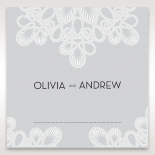 Charming Rustic Laser Cut Wrap wedding stationery place card design