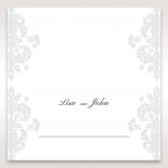 Classic Ivory Damask table place card