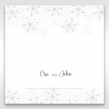 Floral Cluster wedding reception table place card design